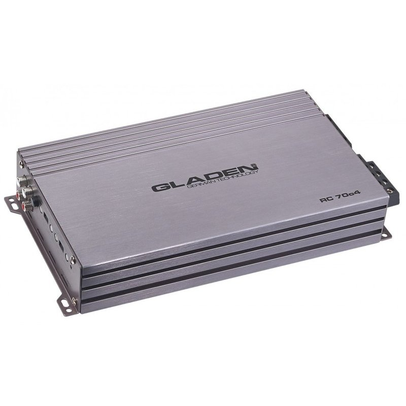 GLADEN RC 70c4 BT - Amplificatore a 4 canali Ultra Compatto in classe AB con ricevitore BLUETOOTH per audio Streaming