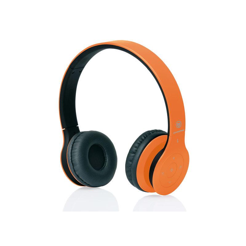 c30dbcd69b0324 MACROM M-HPB20.O Cuffie Wireless con Tecnologia Bluetooth (arancioni)