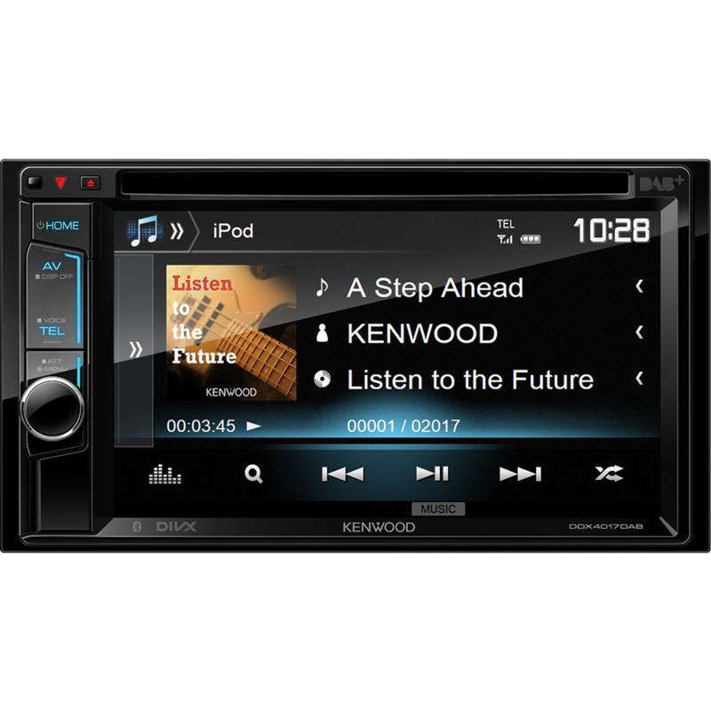 KENWOOD DDX4017DAB Monitor da 6,2 pollici con DVD, Bluetooth e tuner DAB+ integrati