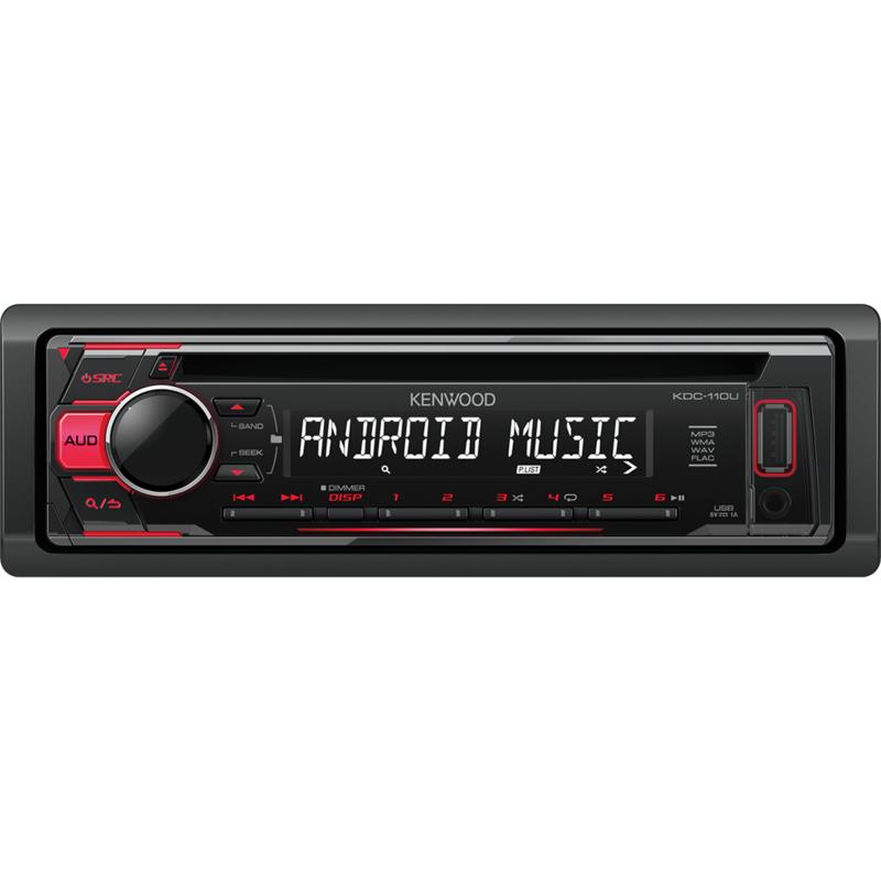 KENWOOD KDC-110UR Sintolettore CD/USB con illuminazione tasti rossa