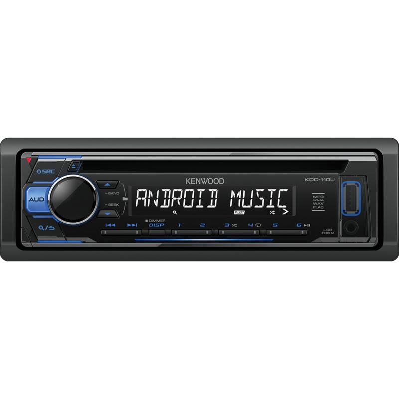 KENWOOD KDC-110UR Sintolettore CD/USB con illuminazione tasti blu