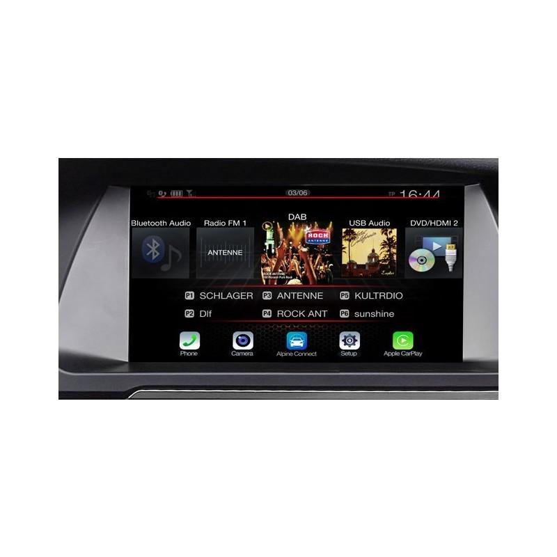 ALPINE X702D-F  Sistema di Navigazione Freestyle da 7 pollici con mappe TomTom, compatible con Apple CarPlay e Android Auto