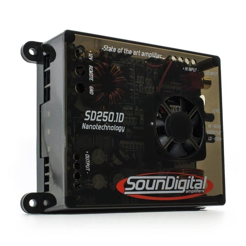 Amplificatore SounDigital Nano SD250.1D 1 canale  250W rms 1Ω  o 2Ω