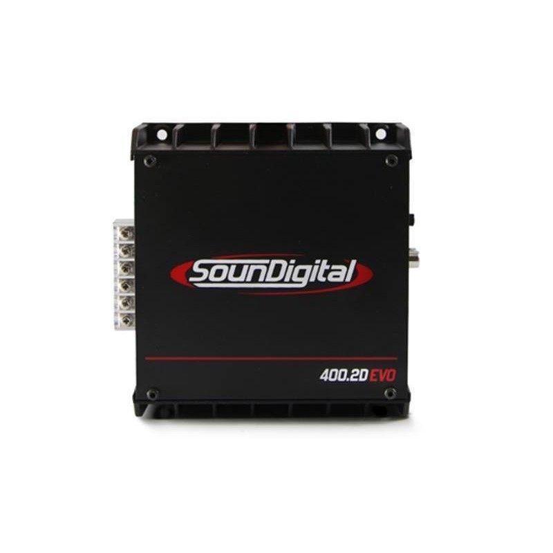 SounDigital SD400.2D Evo II - 2 ohm - amplificatore 2 canali per subwoofer 2x200 Watts RMS 1Ω