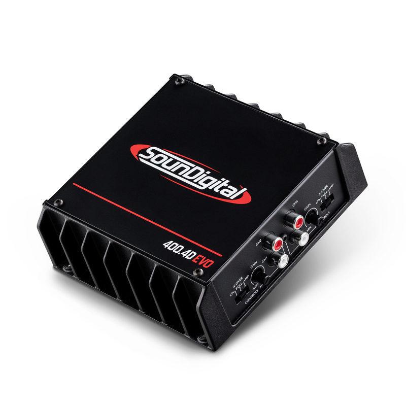 SounDigital SD400.4D EVO II amplificatore a quattro canali, potenza 4 x 100w e 2x200w con collegamento a ponte