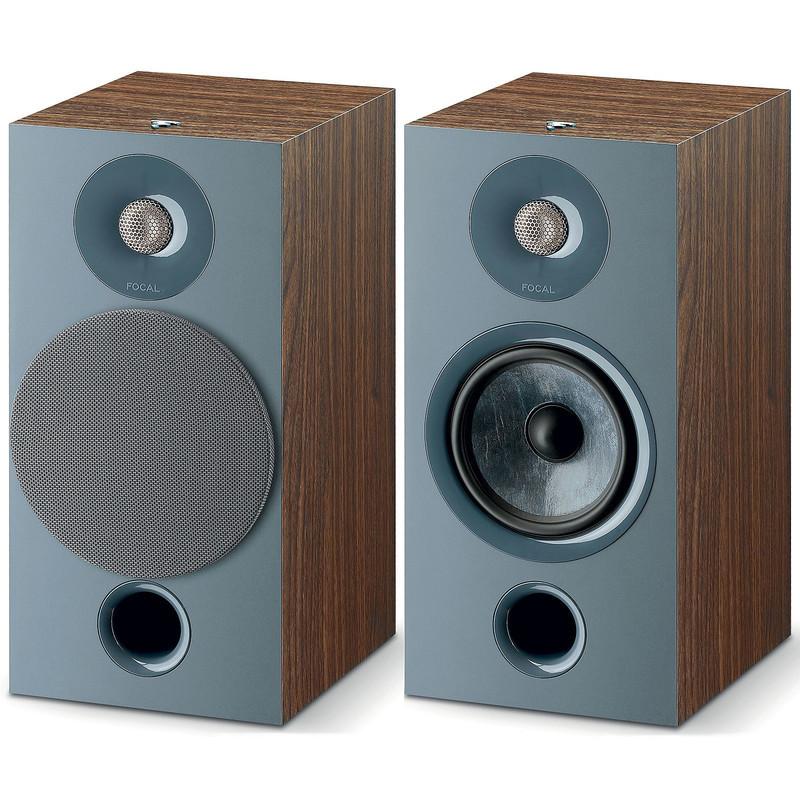 Focal serie Chora 806  coppia di diffusori da scaffale 2 vie color legno SCURO