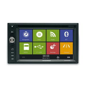 MACROM M-DVD5566 SORGENTE MULTIMEDIALE 2 DIN DOPPIA USB GPS BT MAPPA EUROPA COMPRESA