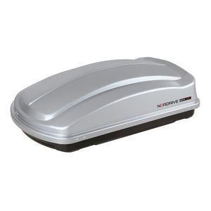 LAMPA N60000 - Box Auto da tetto - Portapacchi Nordrive in ABS 330 litri grigio Goffrato