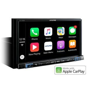 ALPINE iLX-702D Monitor touch screen 7 pollici 2 din , con apple car play e android auto, usb bluetooth Dab