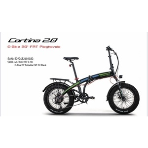 """Macrom Cortina 2.0 E-Bike 20"""" FAT elettrica Pieghevole versione nera"""