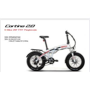 """Macrom Cortina 2.0 E-Bike 20"""" FAT elettrica Pieghevole versione bianca"""