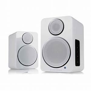 Wharfedale DS-2 Coppia altoparlanti stereo Bluetooth, wireless , colore bianco - garanzia ufficiale Italia