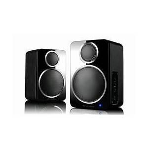 Wharfedale DS-2 Coppia altoparlanti stereo Bluetooth, wireless , colore nero - garanzia ufficiale Italia